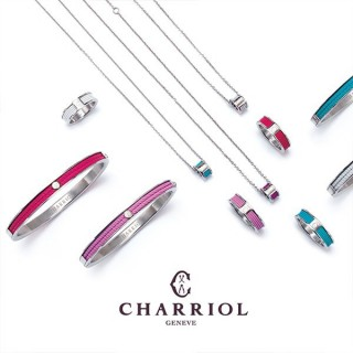 Cable bangle charriol forever young colors black pink
