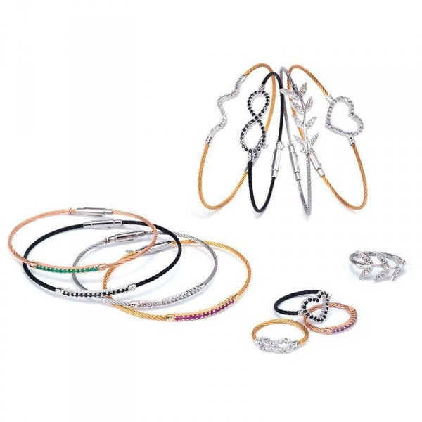 Brillant cable bracelet Charriol