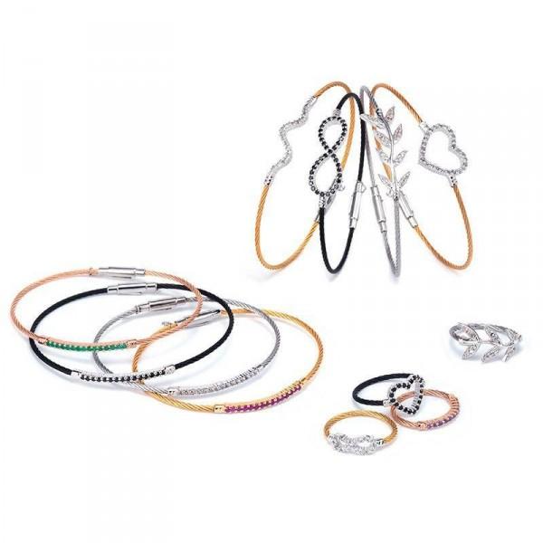 bague cable bicolore charriol