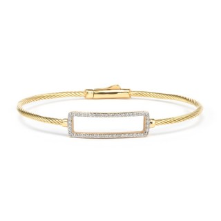 Solid gold bangle