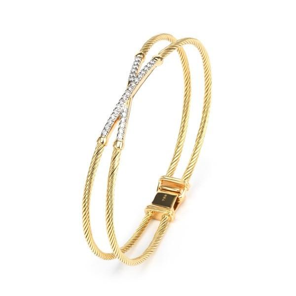 Solid gold bangle