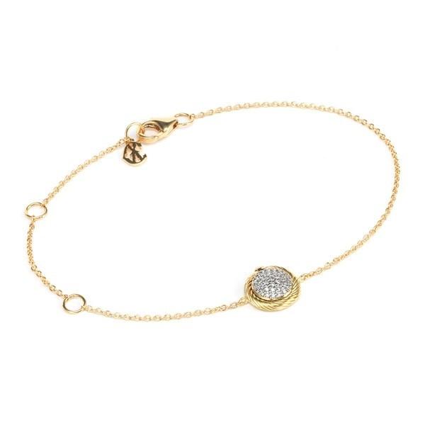 Solid gold bracelet