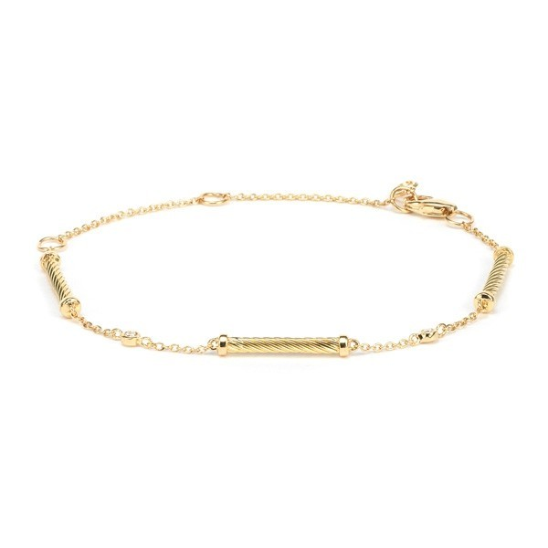 Solid gold bracelet
