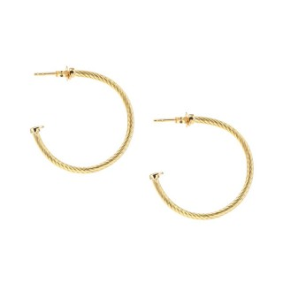 Solid gold earrings