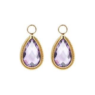 Earrings Charms Amethyst