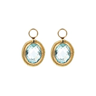 Earrings Charms Blue Topaz