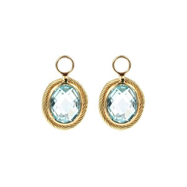 Earrings Charms Blue Topaz