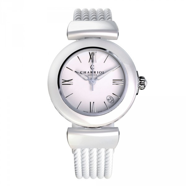 Ael watch white ceramic 33mm