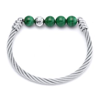 Calypso Malachite bangle