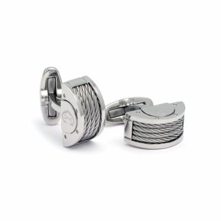 Steel Cufflinks Homme Col.