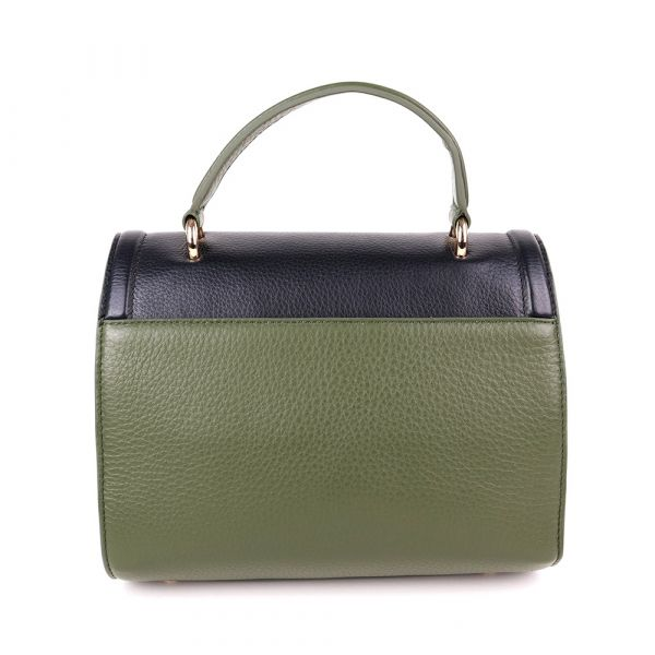Handbag - Military / Off White