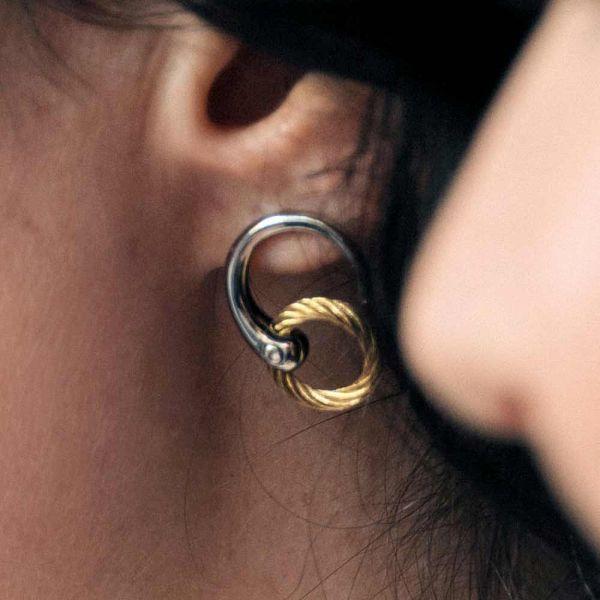 Earrings Infinity Zen