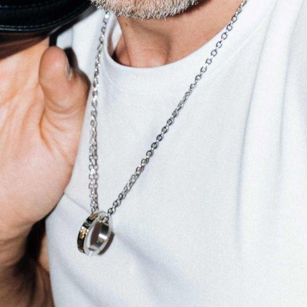 Necklace Forever Slim Svart