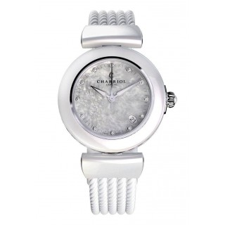 Ael watch white ceramic 33mm