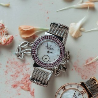 St-Tropez Rhodolite watch 30mm